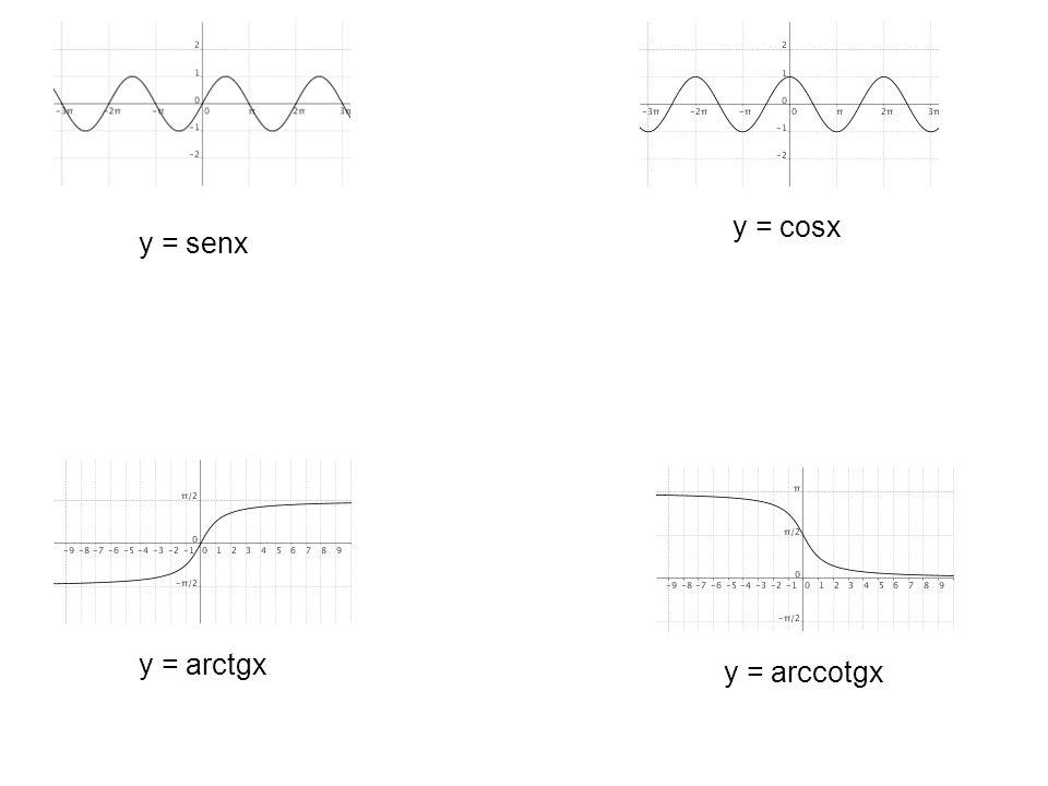 y = senx y = cosx y = arctgx y = arccotgx