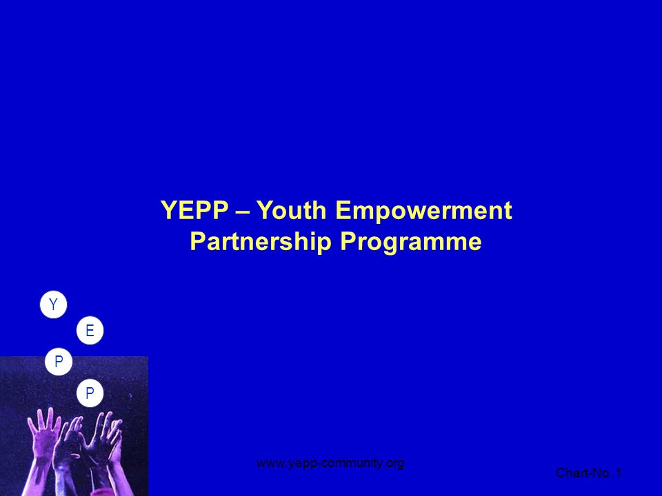PPEY Chart-No. 1 www.yepp-community.org PPEY YEPP – Youth Empowerment Partnership Programme