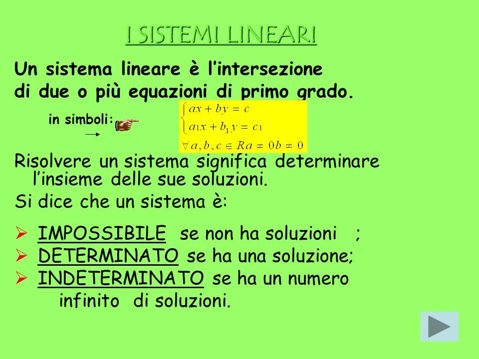 Ogni equazione lineare in due incognite ammette infinite soluzioni. Ci poniamo il seguente problema: è possibile trovare soluzioni comuni a due equazi