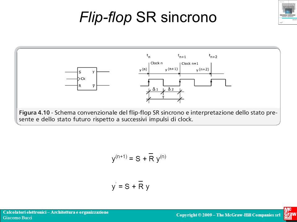 Calcolatori elettronici – Architettura e organizzazione Giacomo Bucci Copyright © 2009 – The McGraw-Hill Companies srl _ y (n+1) = S + R y (n) Flip-fl