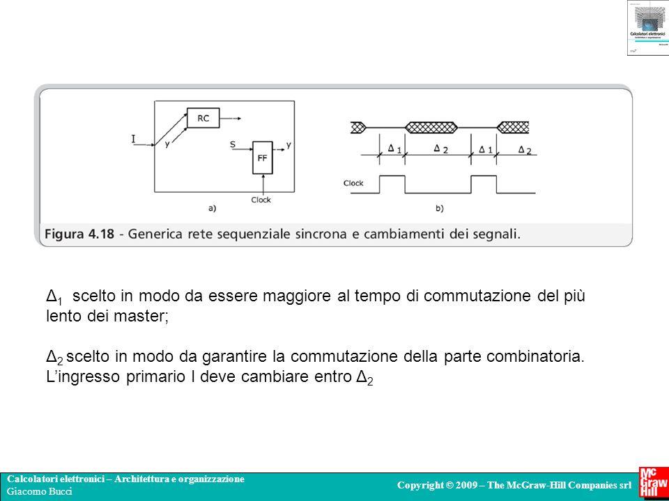 Calcolatori elettronici – Architettura e organizzazione Giacomo Bucci Copyright © 2009 – The McGraw-Hill Companies srl Δ 1 scelto in modo da essere ma