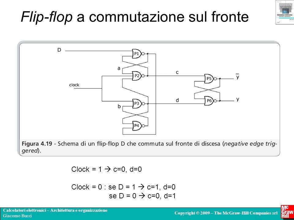 Calcolatori elettronici – Architettura e organizzazione Giacomo Bucci Copyright © 2009 – The McGraw-Hill Companies srl Flip-flop a commutazione sul fr