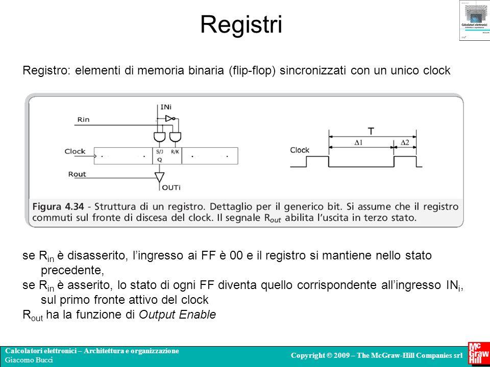 Calcolatori elettronici – Architettura e organizzazione Giacomo Bucci Copyright © 2009 – The McGraw-Hill Companies srl Registri Registro: elementi di