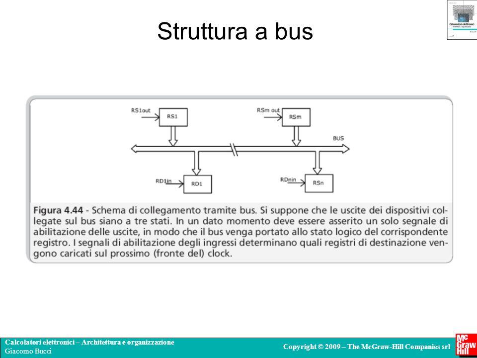 Calcolatori elettronici – Architettura e organizzazione Giacomo Bucci Copyright © 2009 – The McGraw-Hill Companies srl Struttura a bus