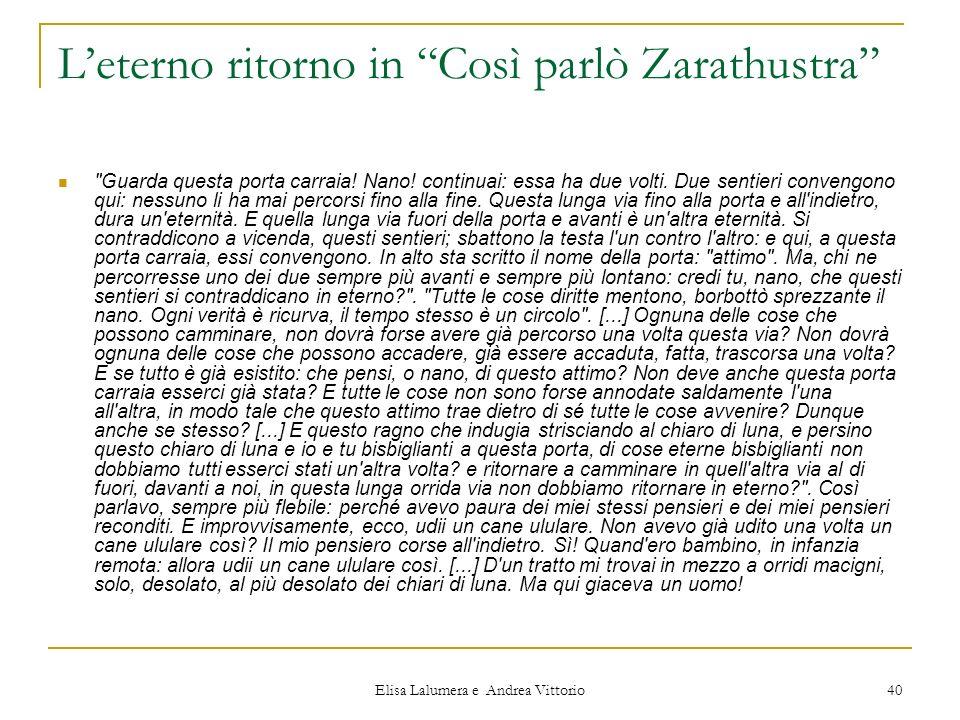 Elisa Lalumera e Andrea Vittorio 40 Leterno ritorno in Così parlò Zarathustra