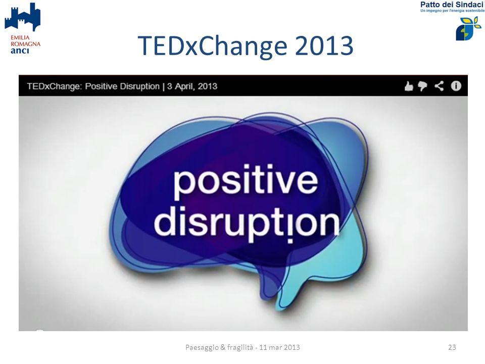 TEDxChange 2013 Paesaggio & fragilità - 11 mar 201323
