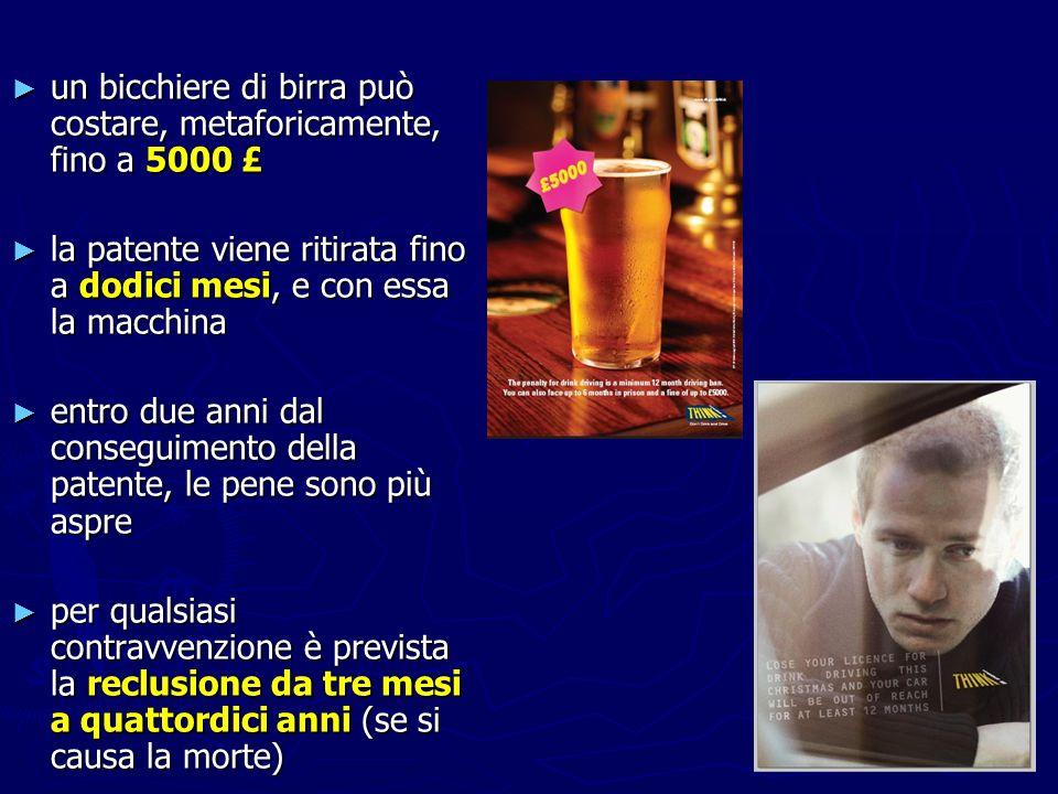 un bicchiere di birra può costare, metaforicamente, fino a 5000 £ un bicchiere di birra può costare, metaforicamente, fino a 5000 £ la patente viene r