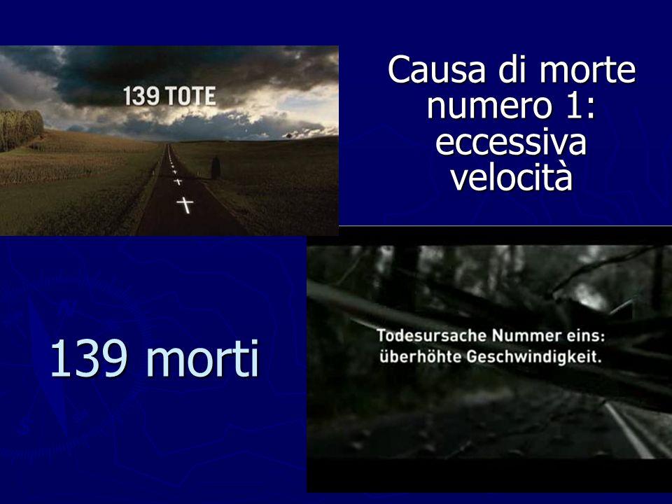 139 morti Causa di morte numero 1: eccessiva velocità