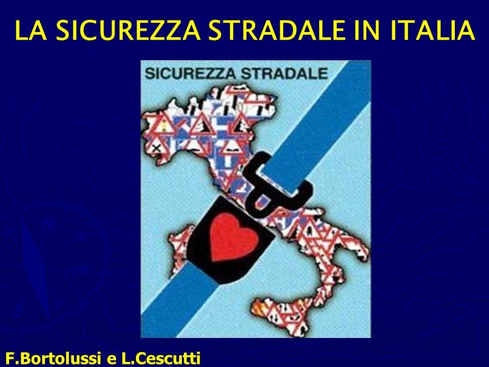 NUMERO DEGLI INCIDENTI STRADALI DEL 2009 Ogni giorno in Italia accadono in media 598 incidenti stradali.