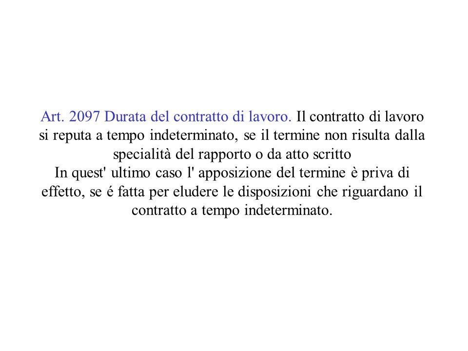 Art.1. D. lgs 368/2001 Apposizione del termine 1.