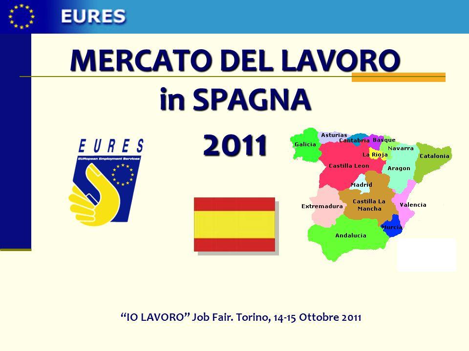 MERCATO DEL LAVORO in SPAGNA 2011 IO LAVORO Job Fair. Torino, 14-15 Ottobre 2011