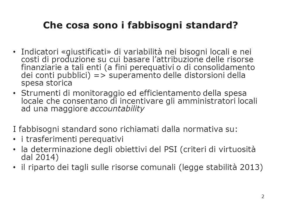 I fabbisogni standard nella perequazione Legge delega sul federalismo fiscale (42/2009) Regioni RSO D.lgs.