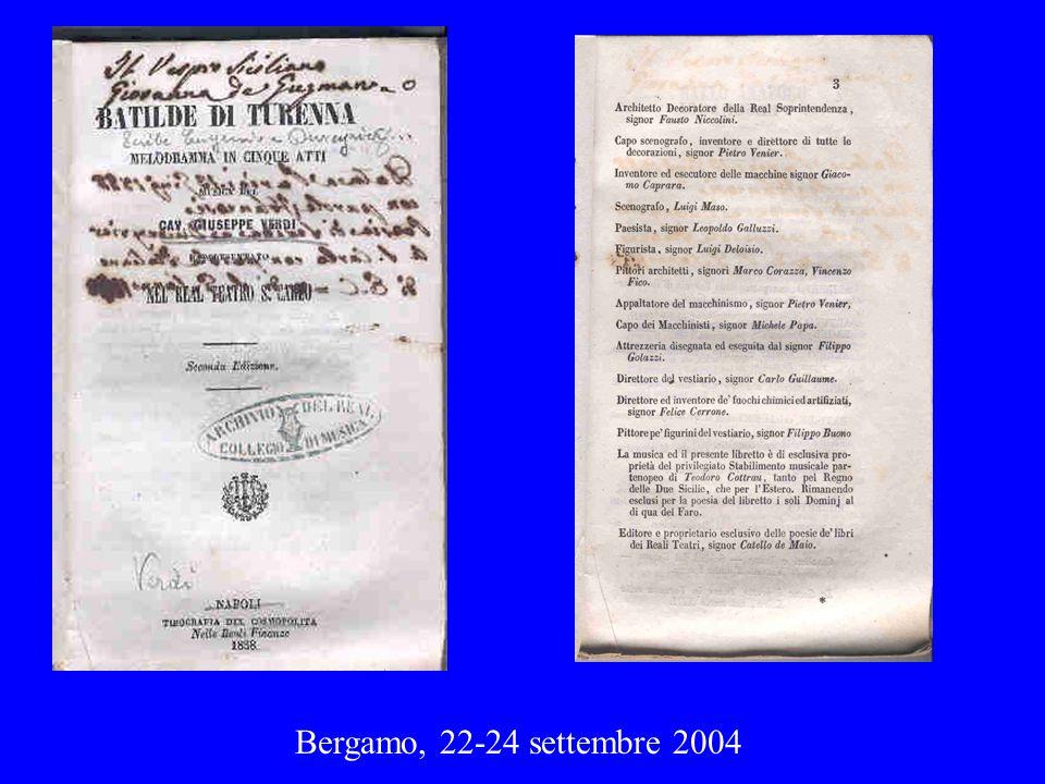 Bergamo, 22-24 settembre 2004