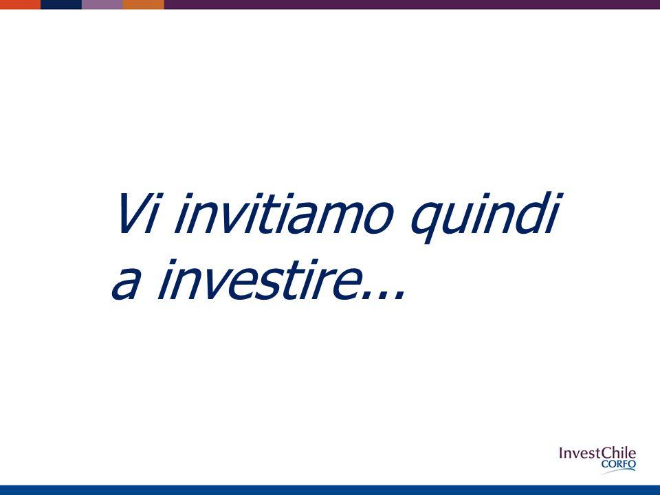 Vi invitiamo quindi a investire...