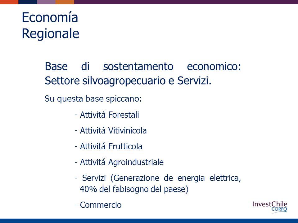 Economía Regionale Base di sostentamento economico: Settore silvoagropecuario e Servizi.