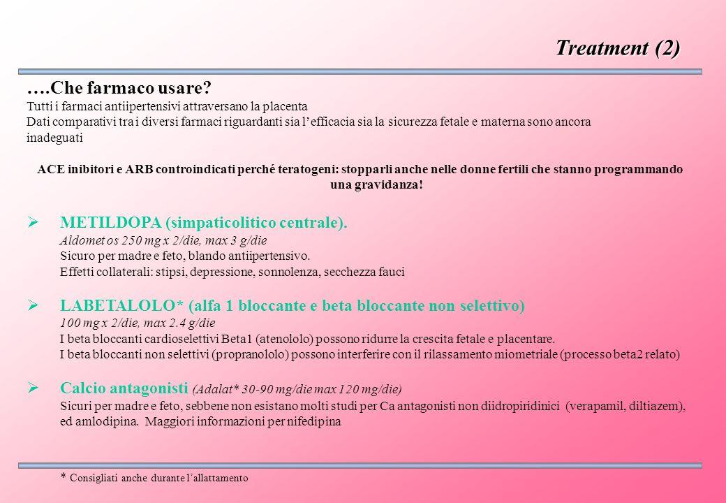 ….Che farmaco usare? Tutti i farmaci antiipertensivi attraversano la placenta Dati comparativi tra i diversi farmaci riguardanti sia lefficacia sia la
