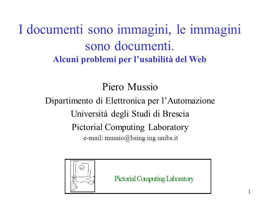 1 I documenti sono immagini, le immagini sono documenti.