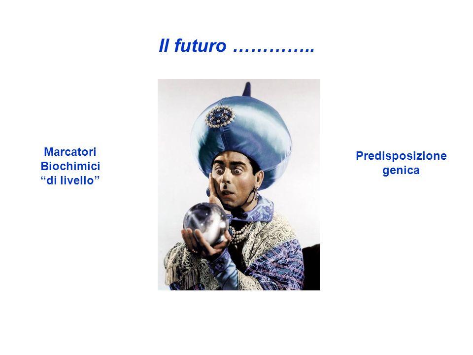 Il futuro ………….. Predisposizione genica Marcatori Biochimici di livello