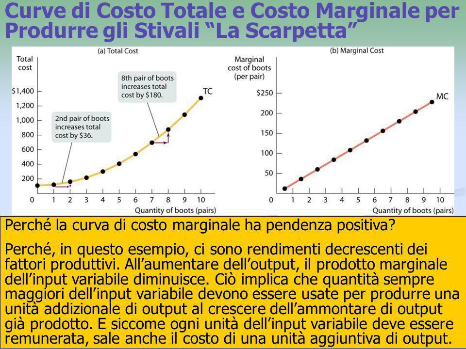 16 Perché la curva di costo marginale ha pendenza positiva? Perché, in questo esempio, ci sono rendimenti decrescenti dei fattori produttivi. Allaumen