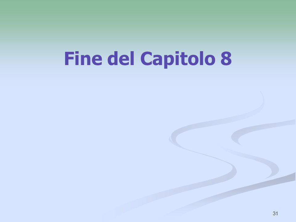 31 Fine del Capitolo 8