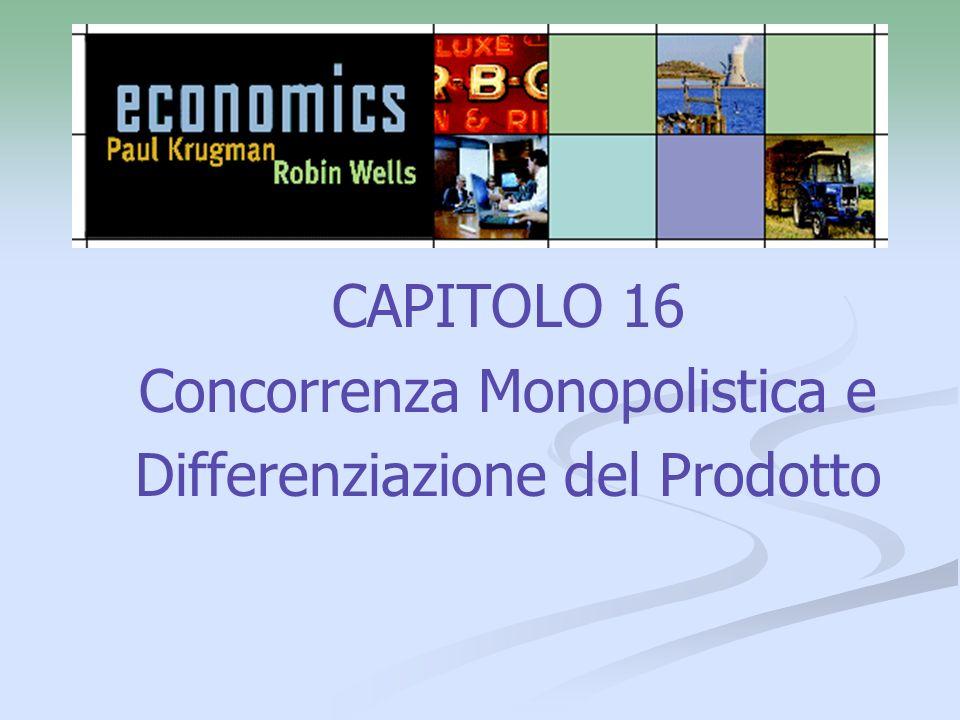 CAPITOLO 16 Concorrenza Monopolistica e Differenziazione del Prodotto
