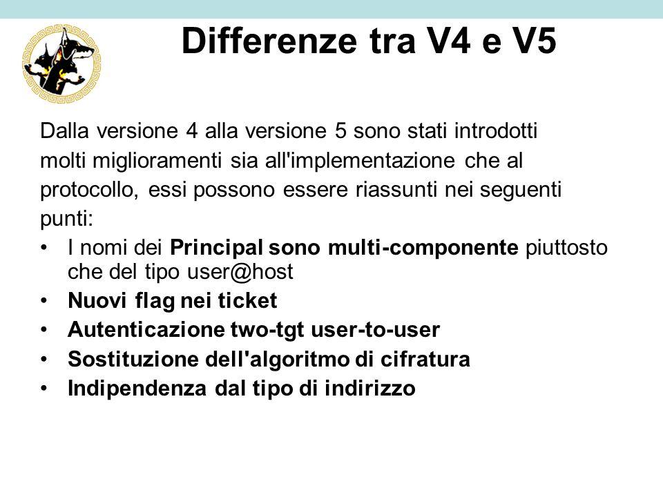 Differenze tra V4 e V5 Dalla versione 4 alla versione 5 sono stati introdotti molti miglioramenti sia all'implementazione che al protocollo, essi poss