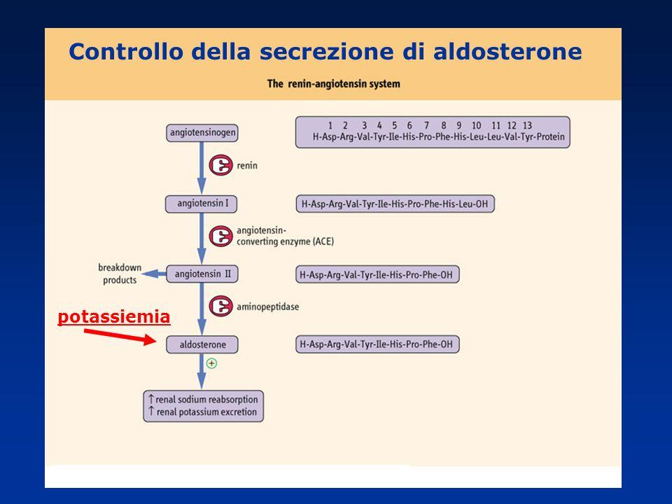 potassiemia Controllo della secrezione di aldosterone