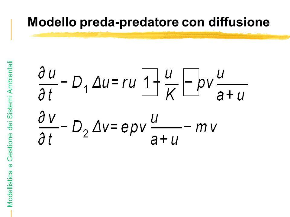 Modellistica e Gestione dei Sistemi Ambientali Modello preda-predatore con diffusione