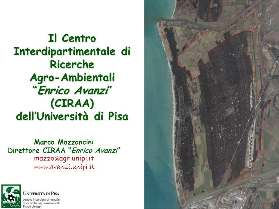 Il Centro Interdipartimentale di Ricerche Agro-AmbientaliEnrico Avanzi (CIRAA) dellUniversità di Pisa Marco Mazzoncini Direttore CIRAA Enrico Avanzi m