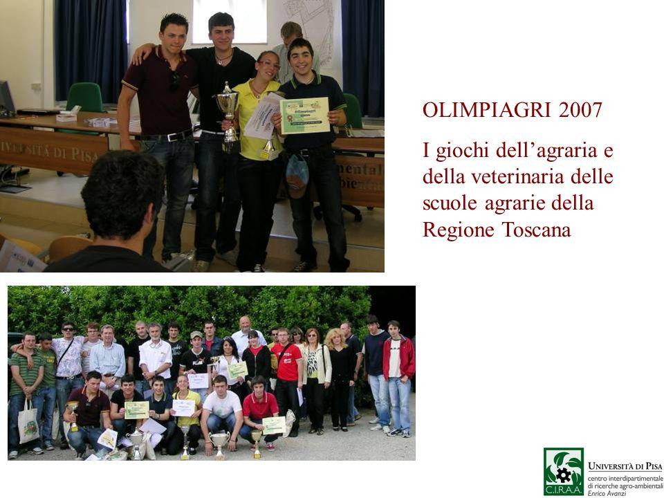 OLIMPIAGRI 2007 I giochi dellagraria e della veterinaria delle scuole agrarie della Regione Toscana