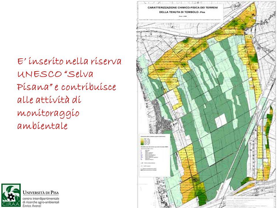 E inserito nella riserva UNESCO Selva Pisana e contribuisce alle attività di monitoraggio ambientale