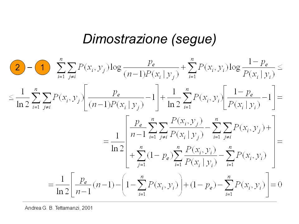 Andrea G. B. Tettamanzi, 2001 Dimostrazione (segue) 21 –