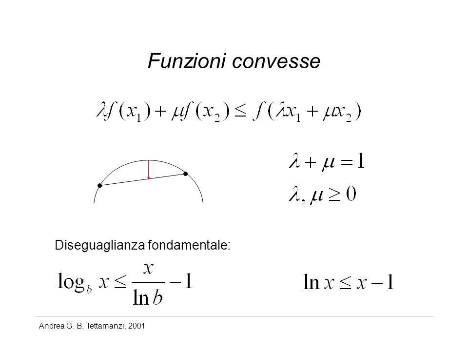 Andrea G. B. Tettamanzi, 2001 Funzioni convesse Diseguaglianza fondamentale: