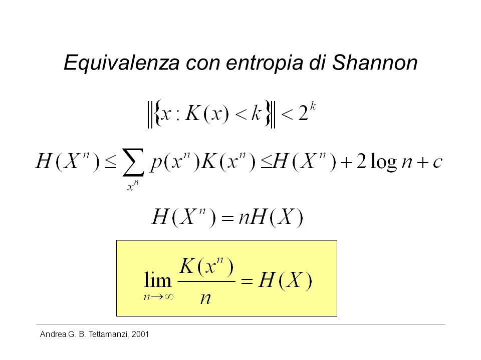 Andrea G. B. Tettamanzi, 2001 Equivalenza con entropia di Shannon