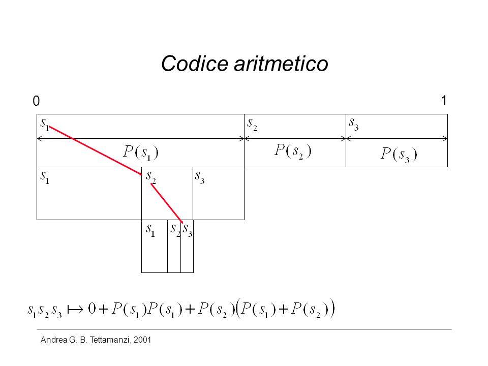 Andrea G. B. Tettamanzi, 2001 Codice aritmetico 0 1
