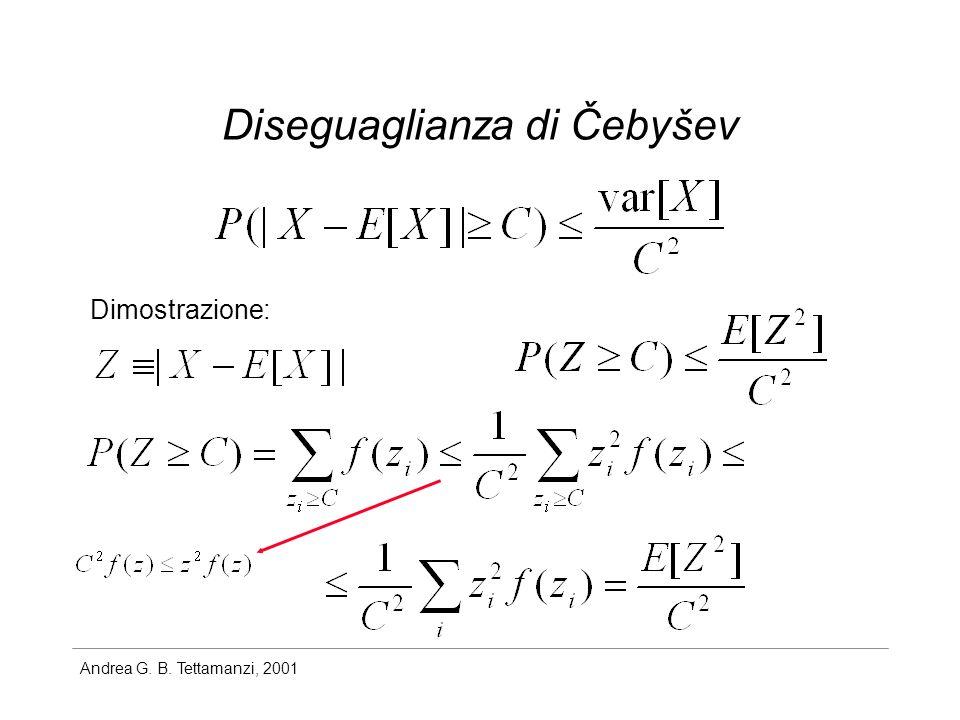 Andrea G. B. Tettamanzi, 2001 Diseguaglianza di Čebyšev Dimostrazione: