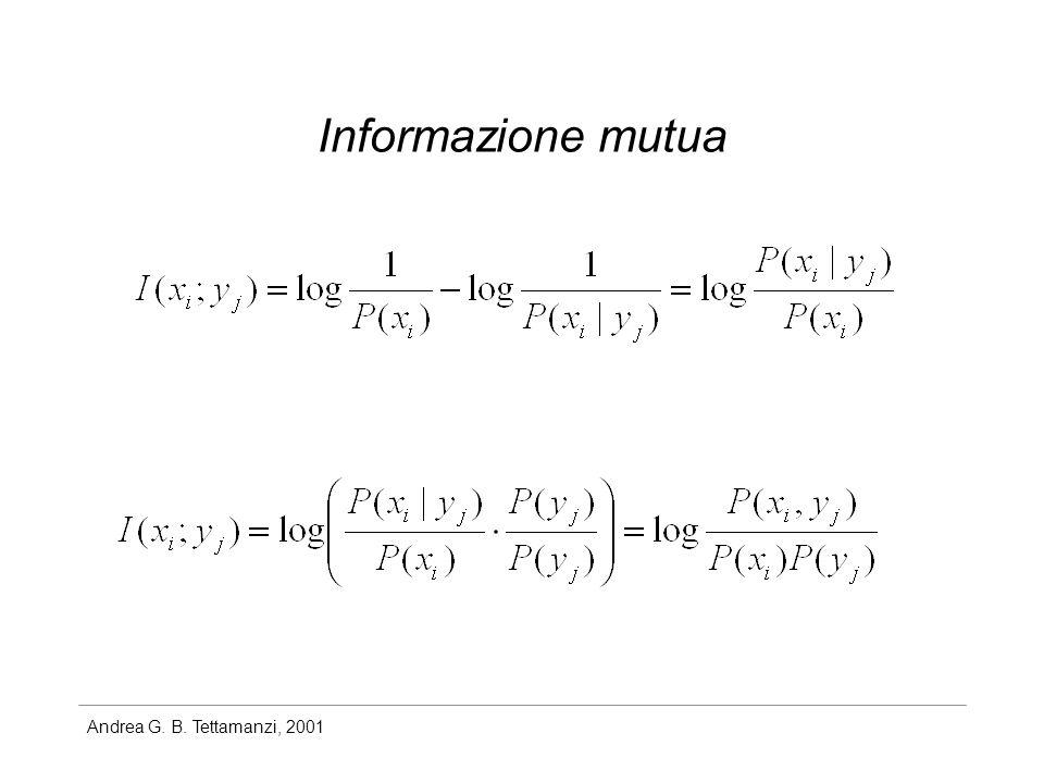 Andrea G. B. Tettamanzi, 2001 Informazione mutua