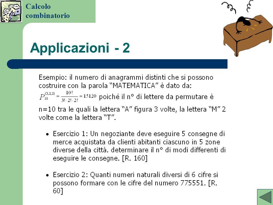Permutazioni con oggetti identici Calcolo combinatorio