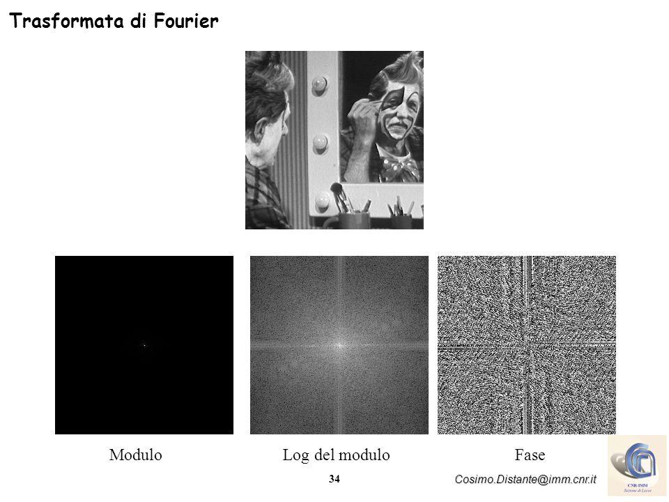 34 Cosimo.Distante@imm.cnr.it Trasformata di Fourier ModuloLog del moduloFase