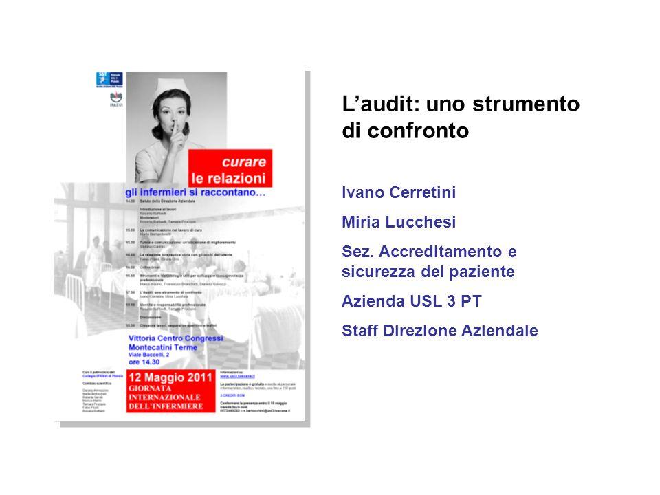 Laudit: uno strumento di confronto Ivano Cerretini Miria Lucchesi Sez.