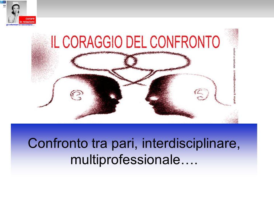 Confronto tra pari, interdisciplinare, multiprofessionale….