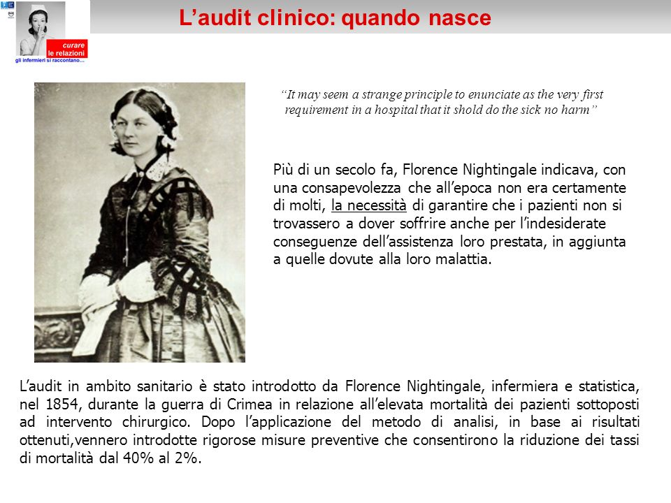 It may seem a strange principle to enunciate as the very first requirement in a hospital that it shold do the sick no harm Più di un secolo fa, Floren