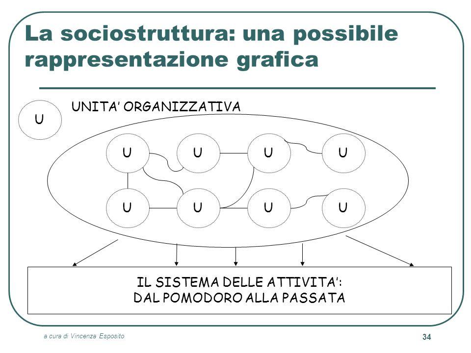 a cura di Vincenza Esposito 34 La sociostruttura: una possibile rappresentazione grafica UUUU IL SISTEMA DELLE ATTIVITA: DAL POMODORO ALLA PASSATA UUU
