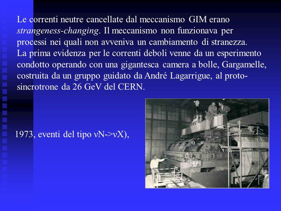 Le correnti neutre cancellate dal meccanismo GIM erano strangeness-changing. Il meccanismo non funzionava per processi nei quali non avveniva un cambi