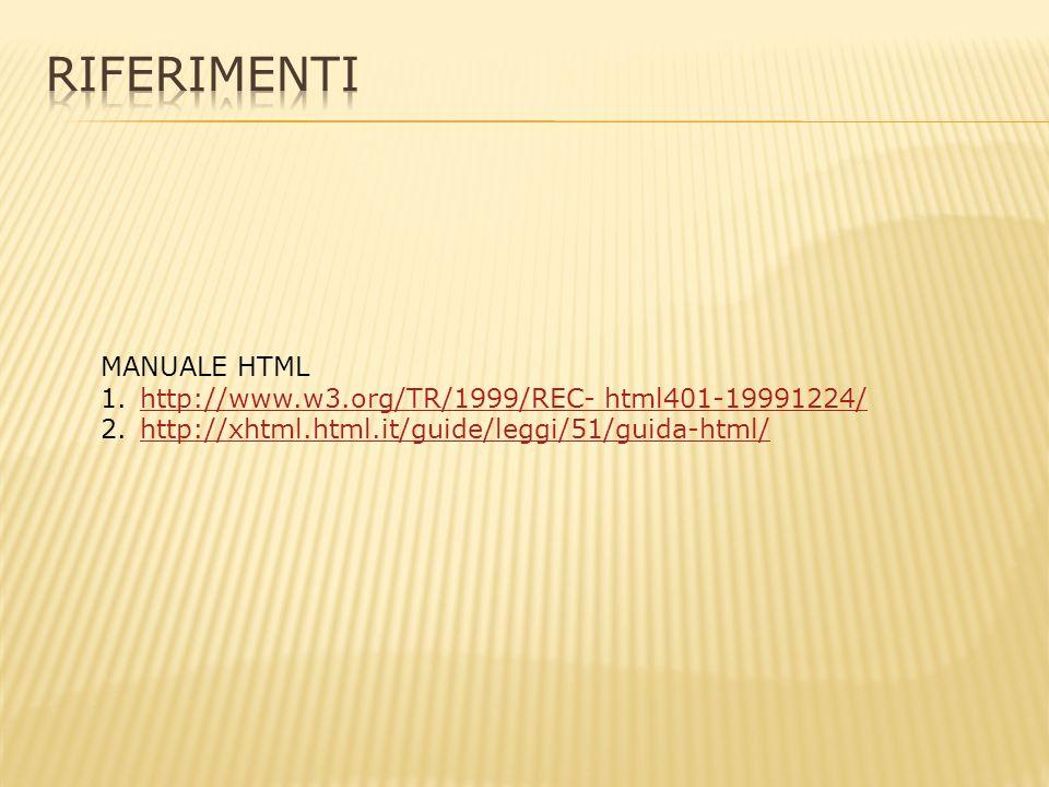 HTML: HyperText Markup Language (traduzione letterale: linguaggio di marcatura per ipertesti) Ipertesto: insieme di documenti messi in relazione tra loro tramite parole chiavi.