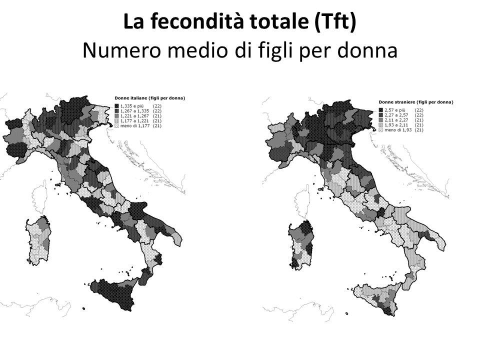 La fecondità totale (Tft) Numero medio di figli per donna