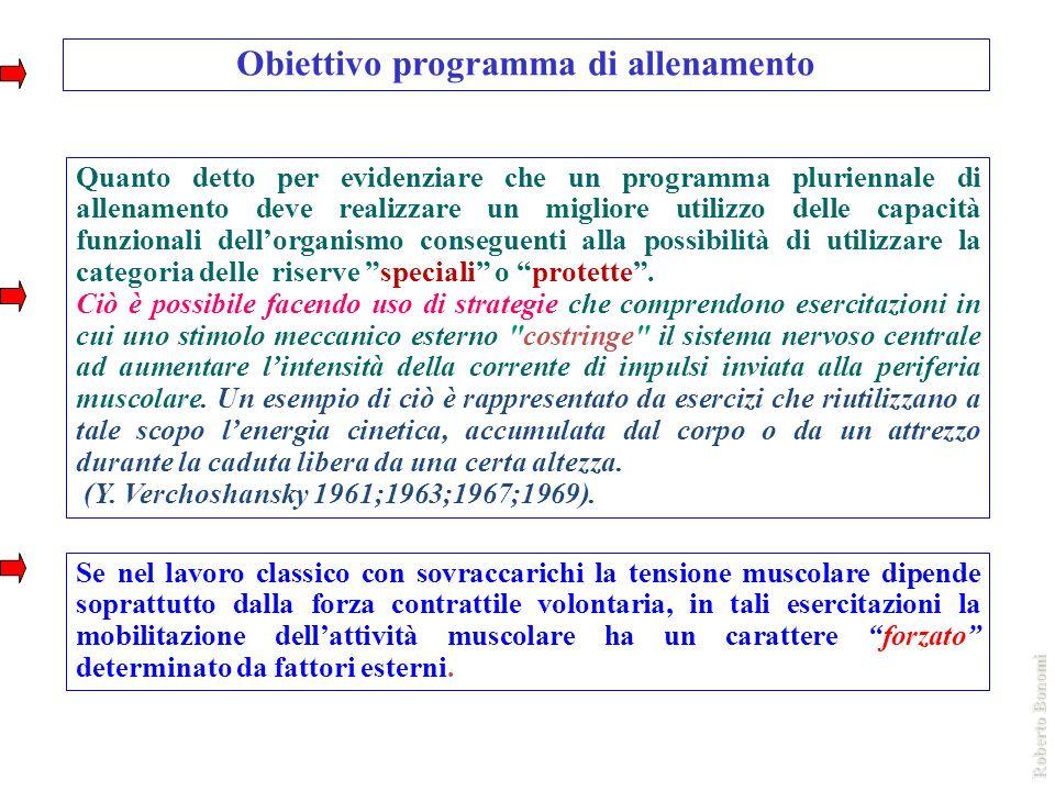 Obiettivo programma di allenamento Quanto detto per evidenziare che un programma pluriennale di allenamento deve realizzare un migliore utilizzo delle