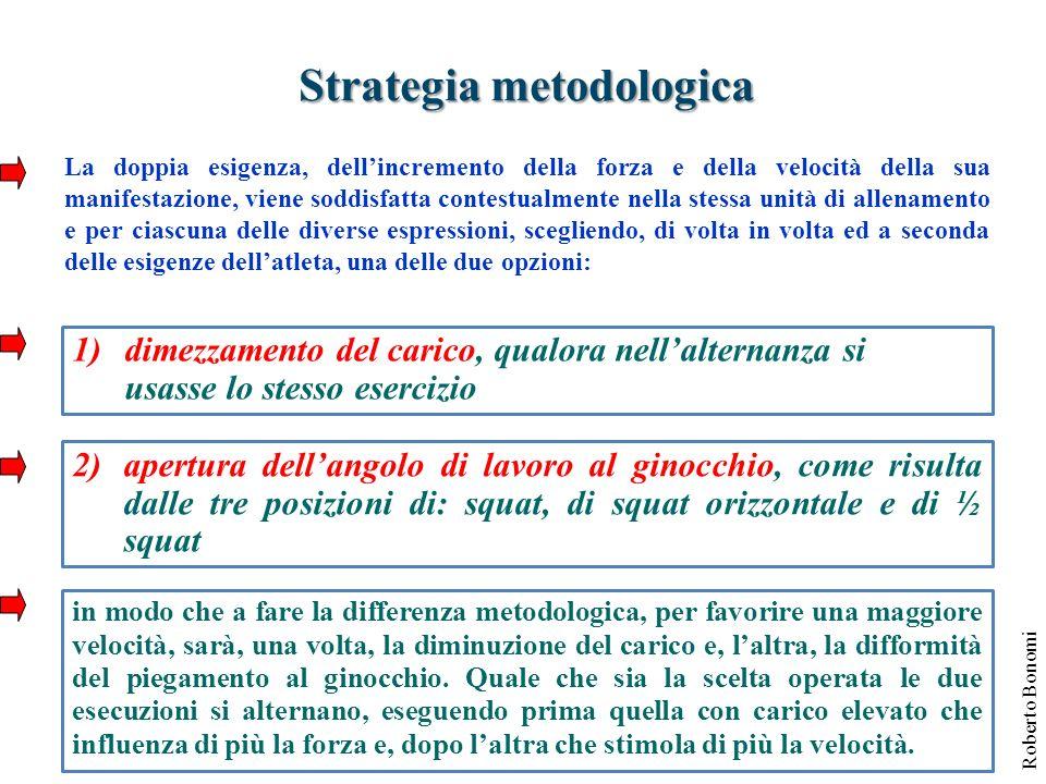 in modo che a fare la differenza metodologica, per favorire una maggiore velocità, sarà, una volta, la diminuzione del carico e, laltra, la difformità
