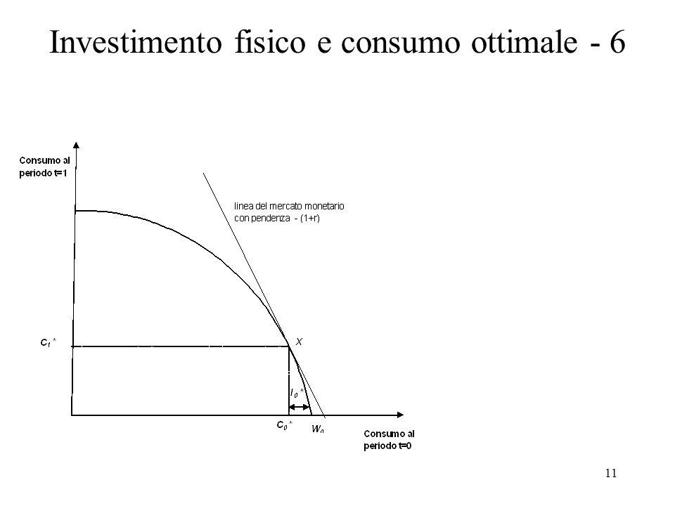 11 Investimento fisico e consumo ottimale - 6