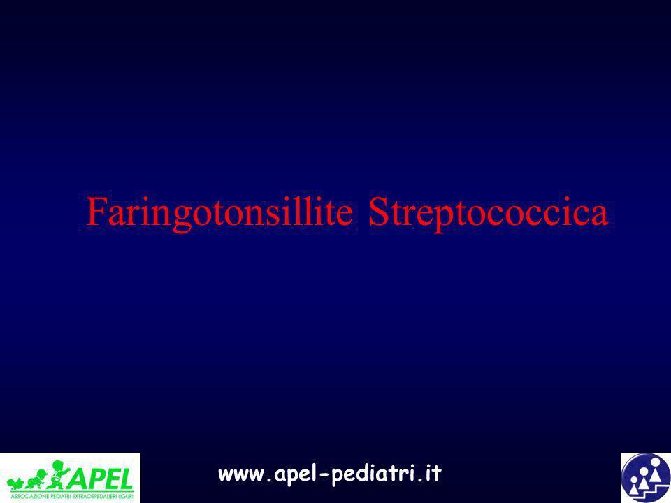www.apel-pediatri.it Faringotonsillite Streptococcica